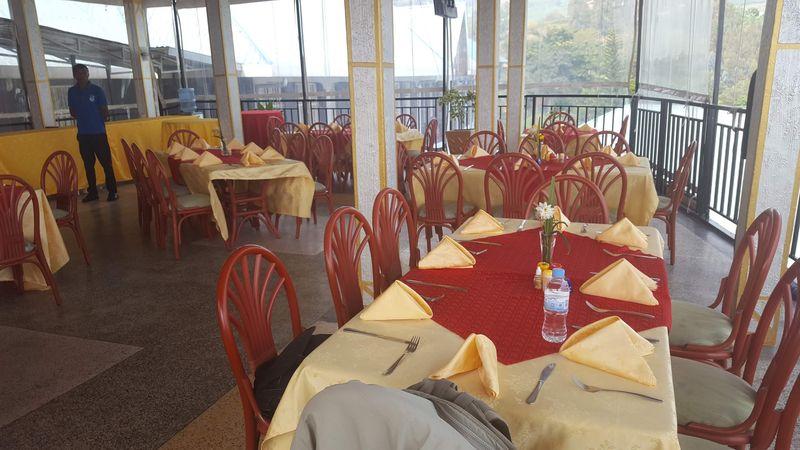 Il ristorante dell'albergo Kivu Peace View Hotel